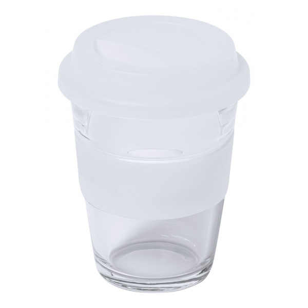 Bicchiere takeaway in vetro