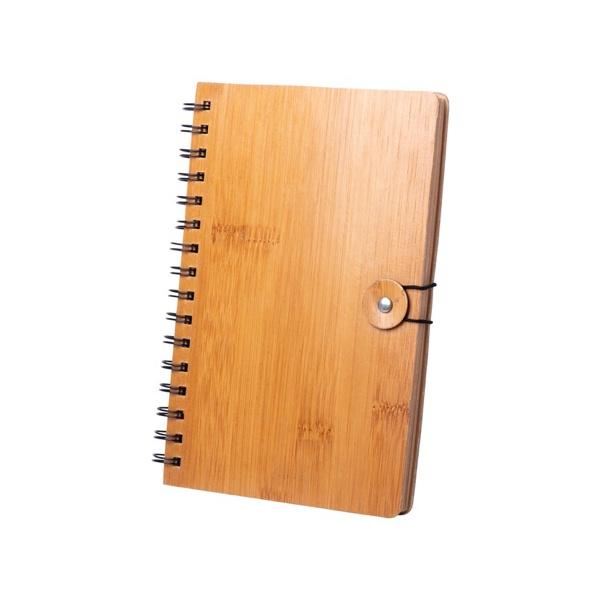 Block notes con spirale e copertina in bambù