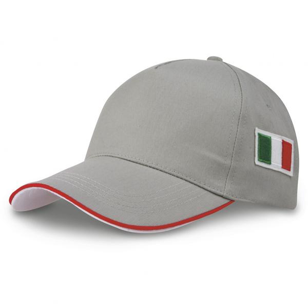 Cappellino bandiera italiana ricamata