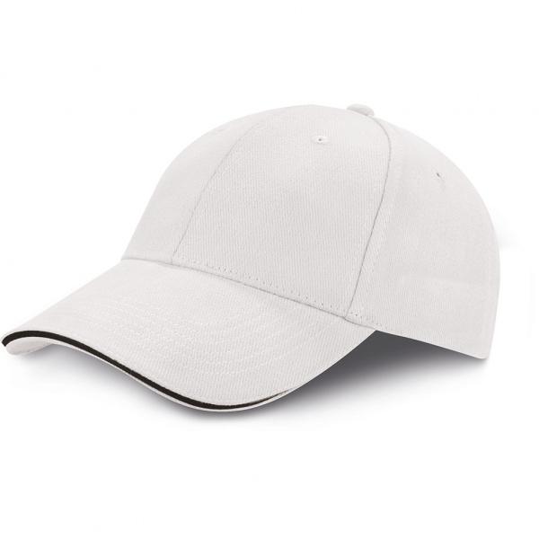 Cappellino in cotone pesante bi-color