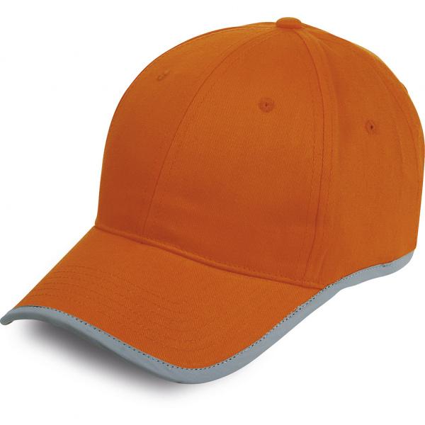 Cappellino con fascia catarifrangente