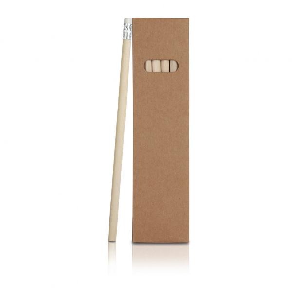 Confezione 6 matite con gomma