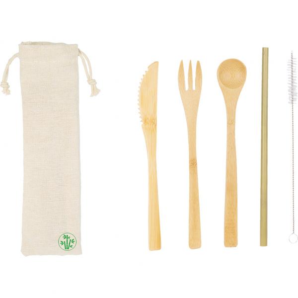 Kit posate in bambù