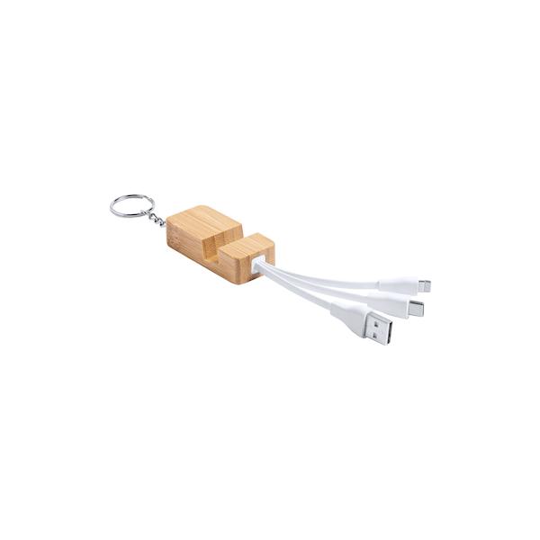 Portachiavi personalizzabile con supporto e cavi smartphone