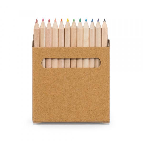 Scatola con 12 matite colorate