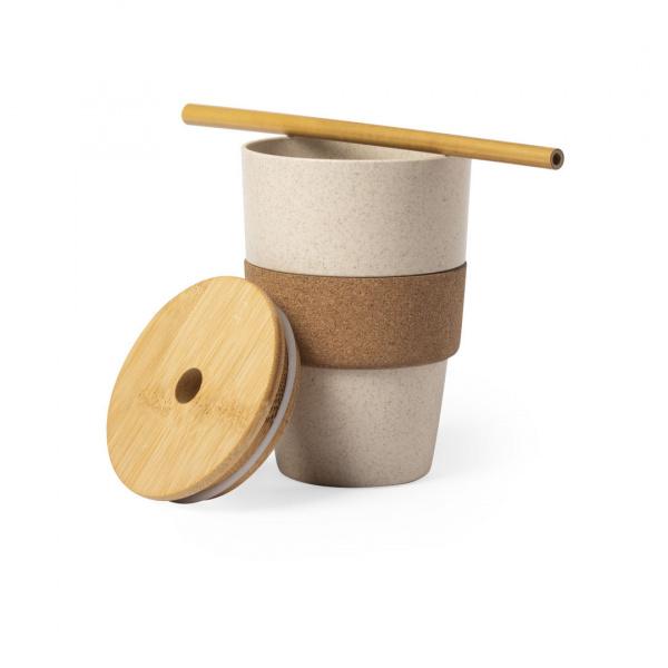 Bicchiere Drink in Bambù con Tappo il Legno