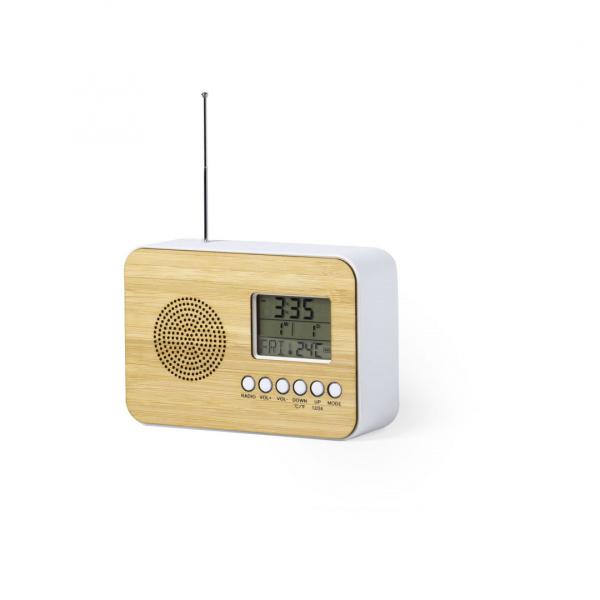 Radio Sveglia in Bambù