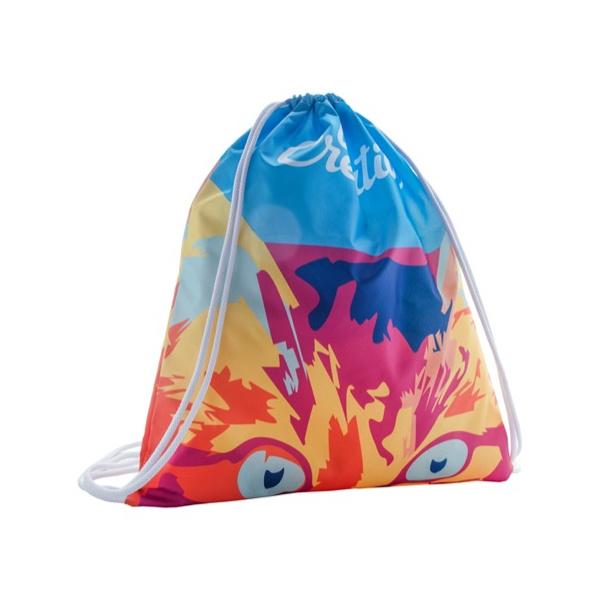 Zainetto a sacca personalizzato a colori
