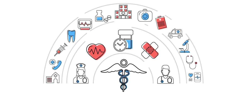 Gadget medici personalizzati per pazienti e infermieri.